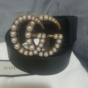Gucci belt Pearl effect